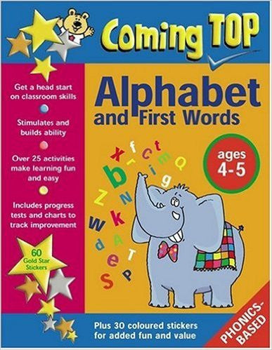 Coming Top Alphabet And Words Age 4-5 With Sticker