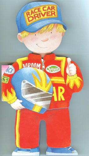 Shaped Board Book Race Car Driver