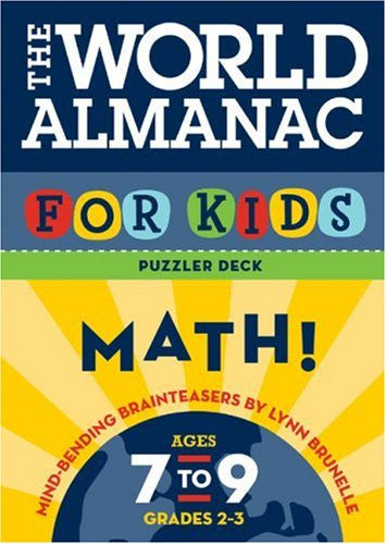 World Almanac For Kids Puzzler Deck Math Ages 7-9 Flash Cards