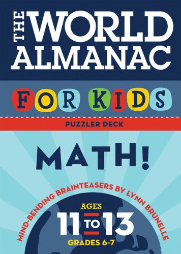 World Almanac For Kids Puzzler Deck Math Ages 11-13 Flash Cards