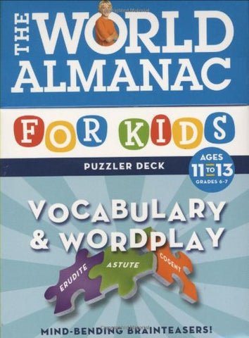World Almanac Vocabulary & Wordplay Ages 11 - 13 Flash Cards