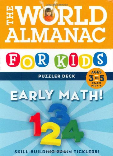 World Almanac For Kids Puzzler Deck Early Math Ages 3-5 Flash Cards