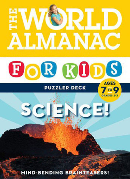 World Almanac For Kids Puzzler Deck Science Ages 7-9 Flash Cards