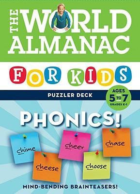World Almanac For Kids Puzzler Deck Phonics Ages 5-7 Flash Cards