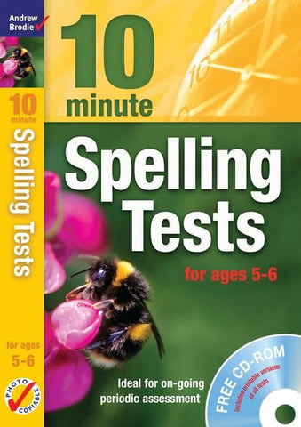 Andrew Brodie 10 Minute Spelling Tests Ages 5-6 With CD