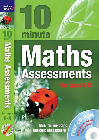 Andrew Brodie 10 Minute Maths Assessments Ages 8-9 With CD