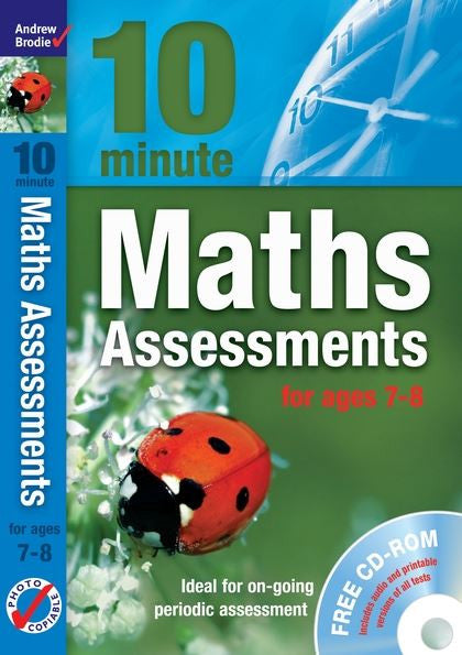 Andrew Brodie 10 Minute Maths Assessments Ages 7-8 With CD