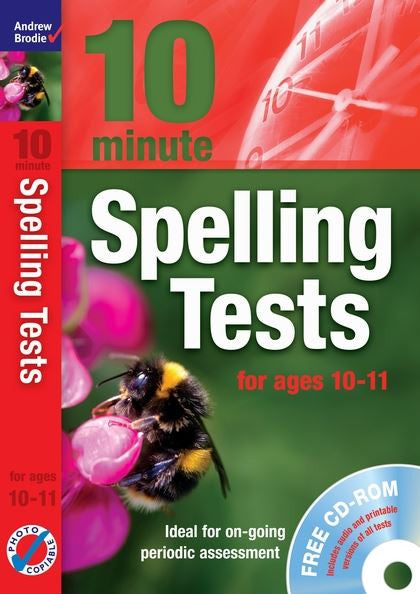 Andrew Brodie 10 Minute Spelling Test Age 10-11 with CD