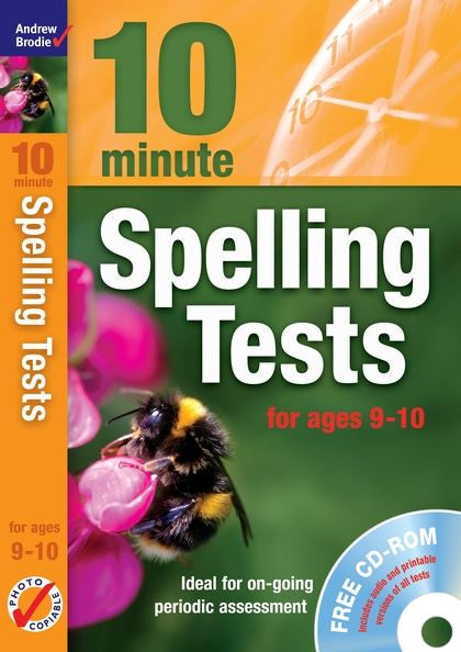 Andrew Brodie 10 Minute Spelling Tests Ages 9-10 with CD