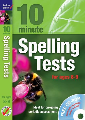 Andrew Brodie 10  Minute Spelling Tests Ages 8-9 With CD