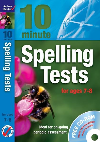 Andrew Brodie 10 Minute Spelling Test Age 7-8 with CD