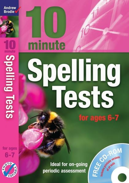 Andrew Brodie 10 Minute Spelling Tests Ages 6-7 with CD