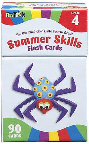 Summer Skills Flash Cards Grade 4