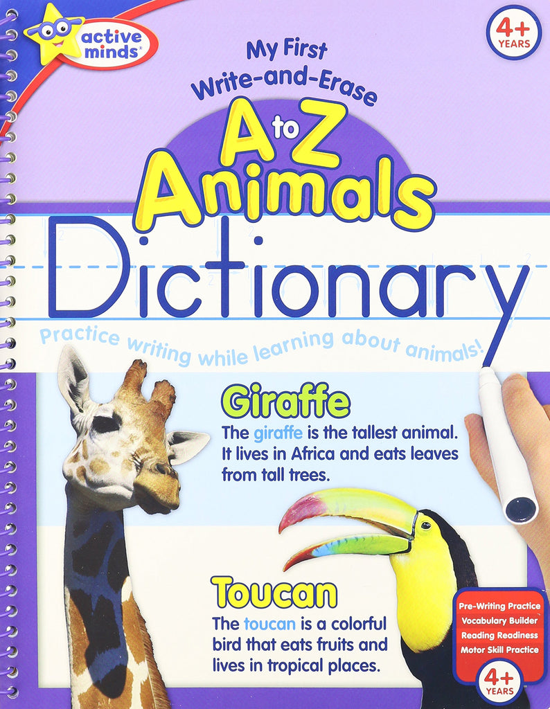 Active Minds A To Z Animals Dictionary Wipe Off