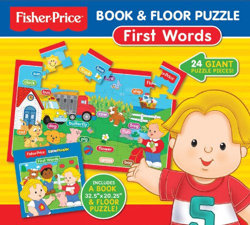 Fisher Price Book & Floor Puzzle First Word