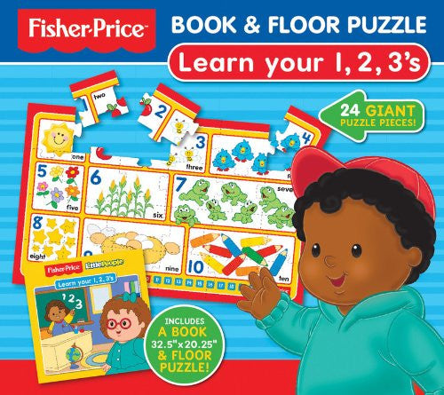 Fisher Price Book & Floor Puzzle Learn 123