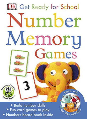 DK Get Ready for School Number Memory Games