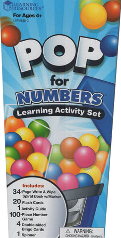 Pop For Numbers Learning Activity Set