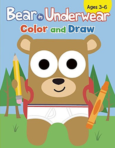 Bear In Underwear Color And Draw