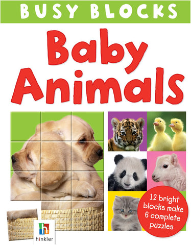 Busy Blocks Baby Animals With 12 Puzzle Blocks