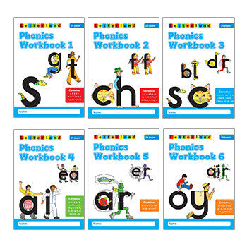 Phonics Workbooks (Set of 6 Books)