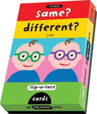 Flip A Face Cards: Same? Different?