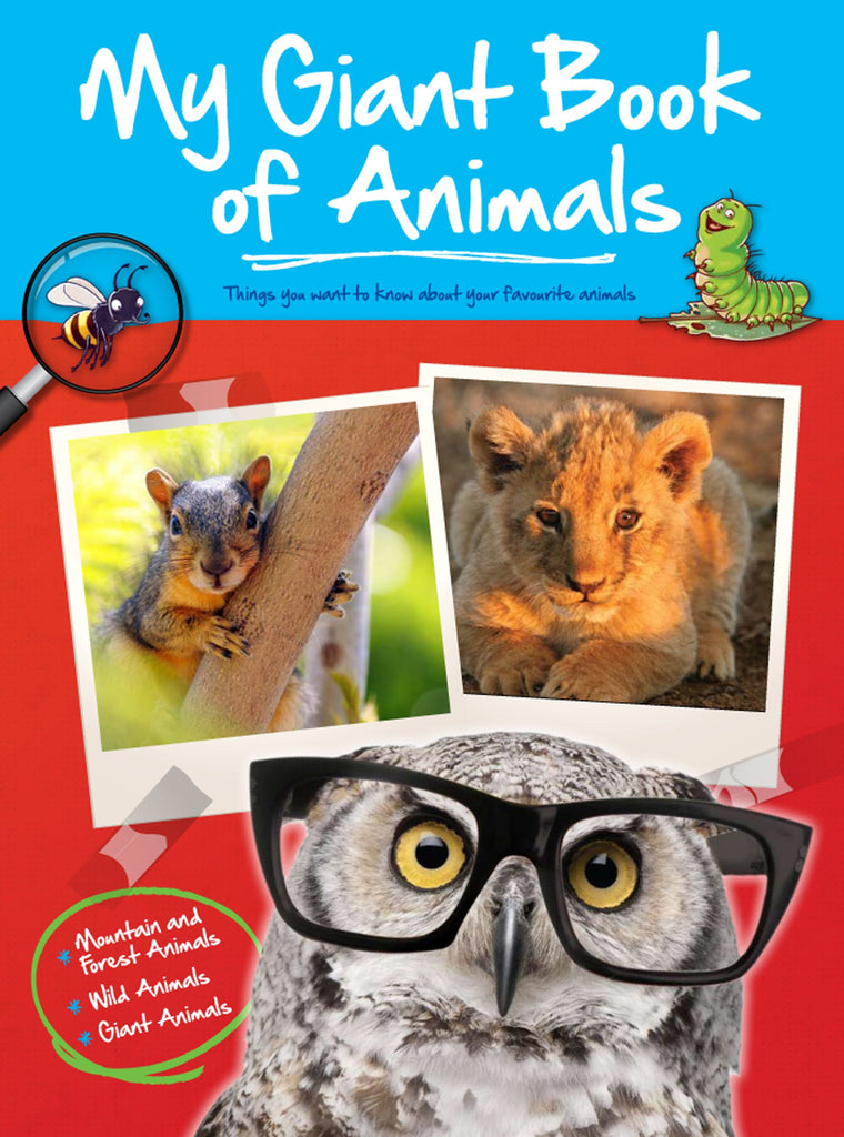 My Giant Big Book Of Animals - Mountain & Forest Animals, Wild Animals & Giant Animals