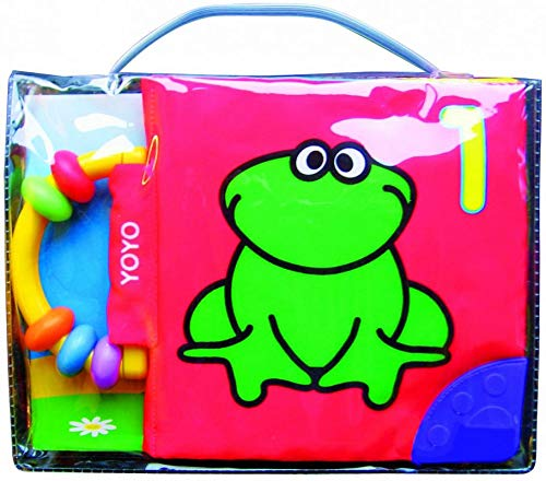 Crinkly Soft Book with Rattle : Frog