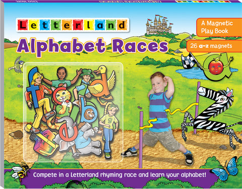 Alphabet Races (Magnetic play book)