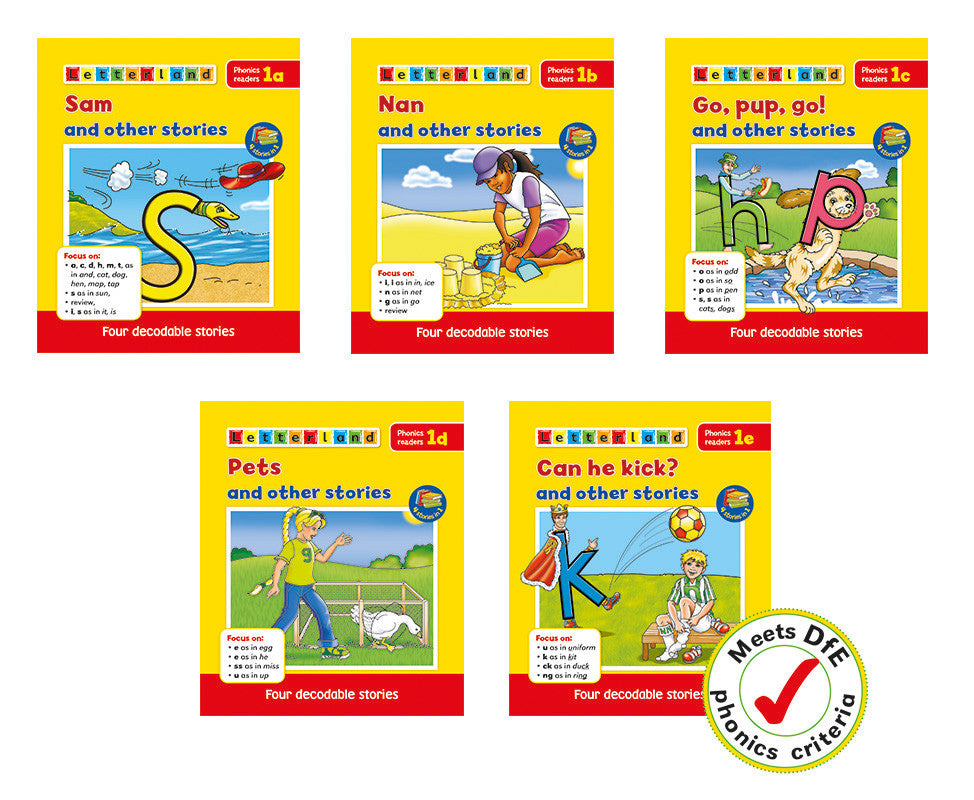 Phonics Readers Set 1 (Set of 5)