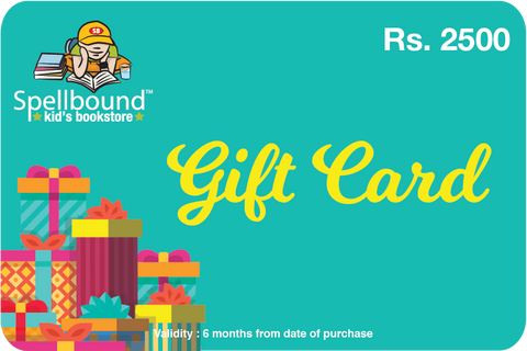 Spellbound Gift Card Rs 2500
