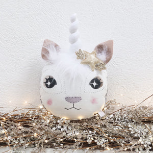 Christmas Unicorn Animal Wall Head