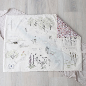 Play Mat Gift Set - Liberty Print Wild Flowers