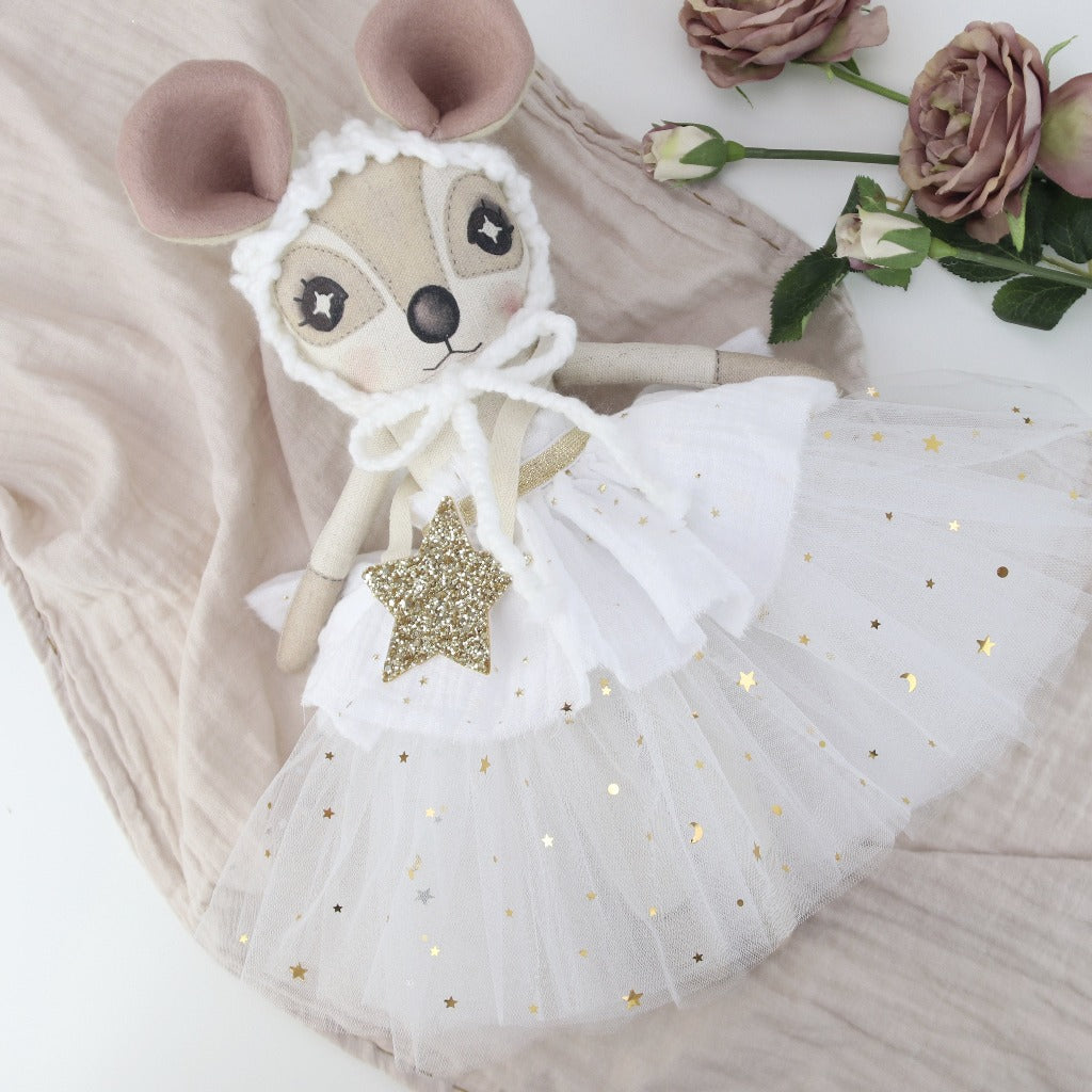 Keepsake White Star Delphine Dormouse