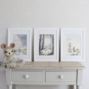 Fenella Fawn Moonlight Watercolour Print