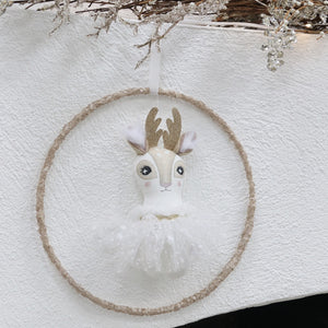 Golden Christmas Hoop Mobile
