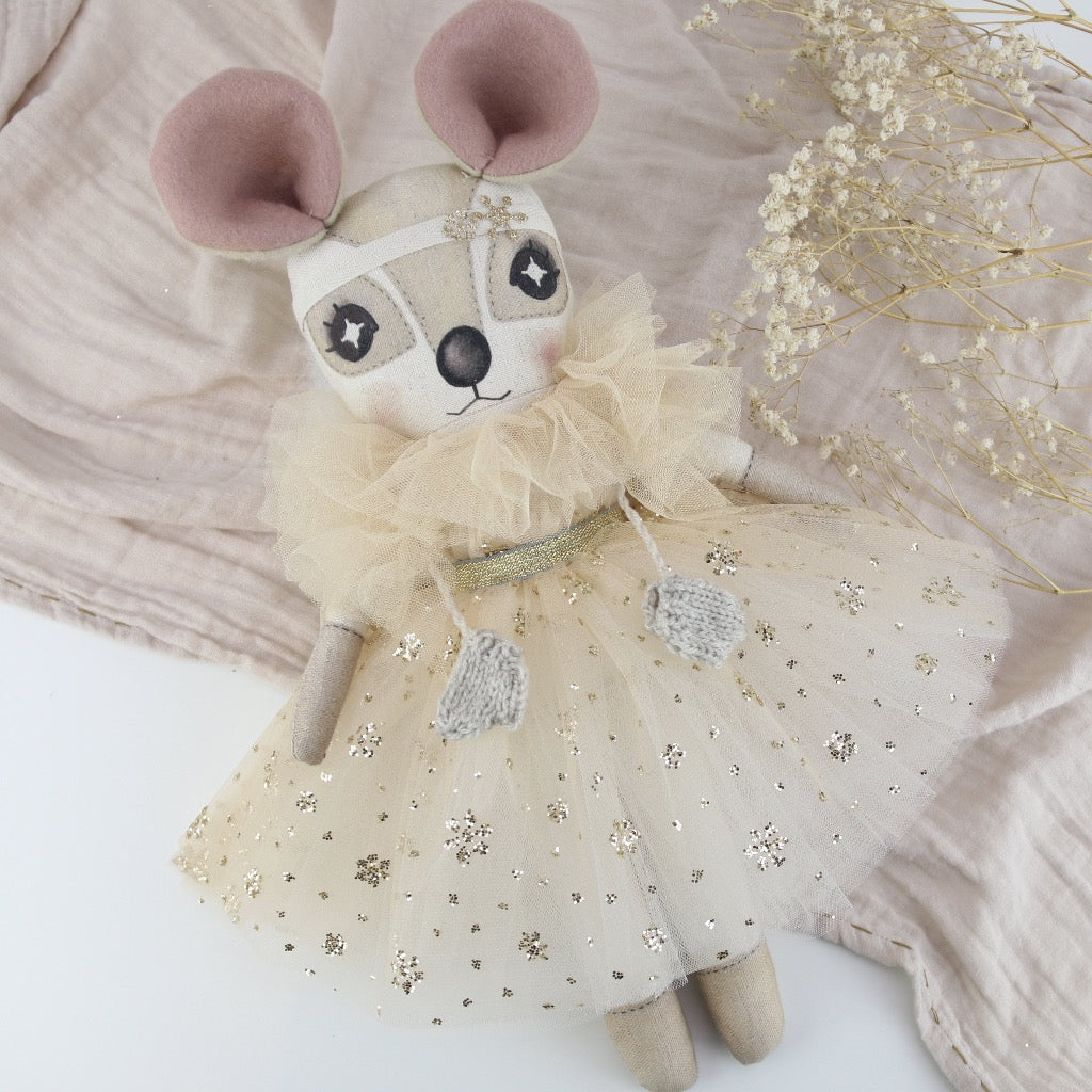 Keepsake Golden Snowflake Sparkle Delphine Dormouse