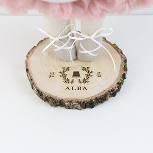 Personalised Woodland Heirloom Doll Stand