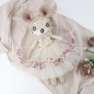 Keepsake Liberty Print 'Wild Flowers' Delphine Dormouse