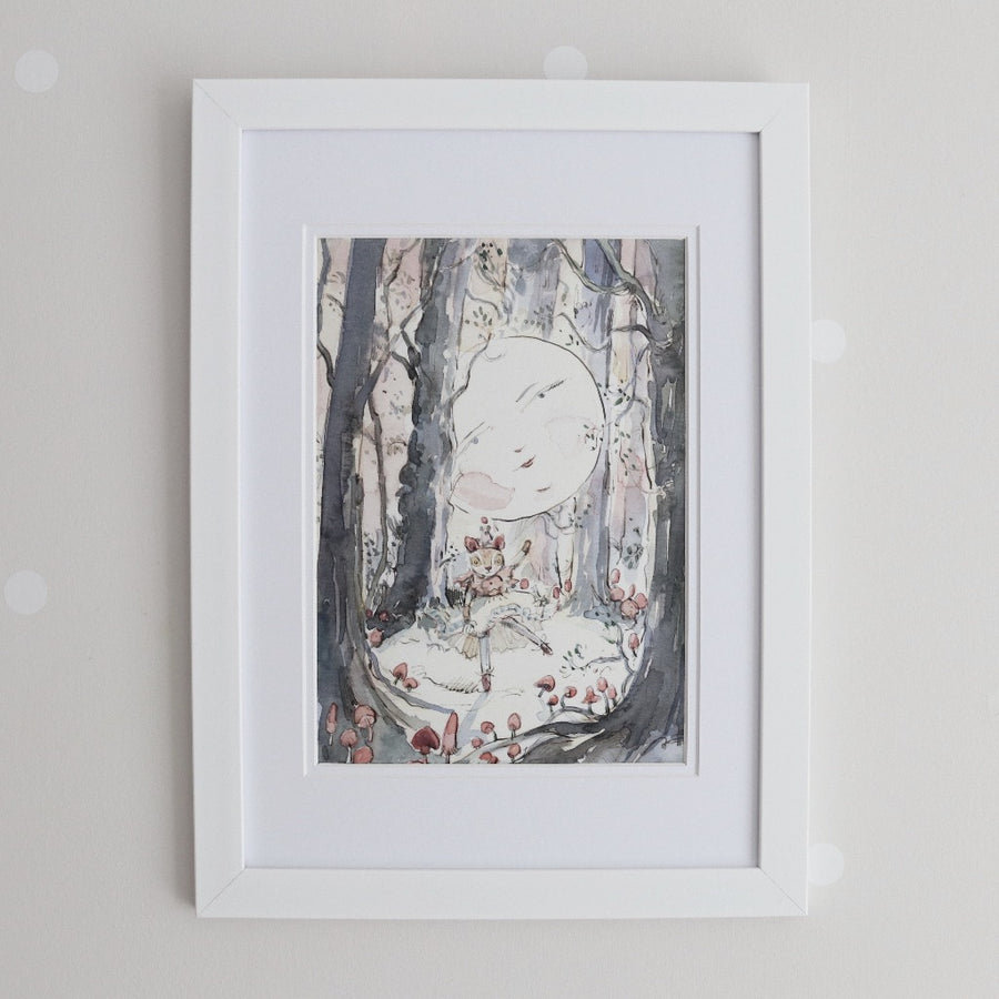 Fenella Fawn Moonlight Woods Watercolour Print