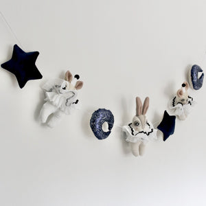 Midnight Velvet Garland