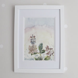 Danny Dormouse Sunset Watercolour Print