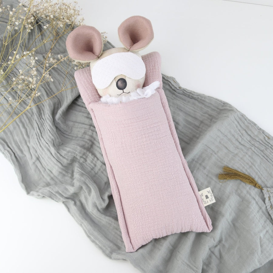 Keepsake Sleepover Outfit & Powder Pink Sleeping Bag