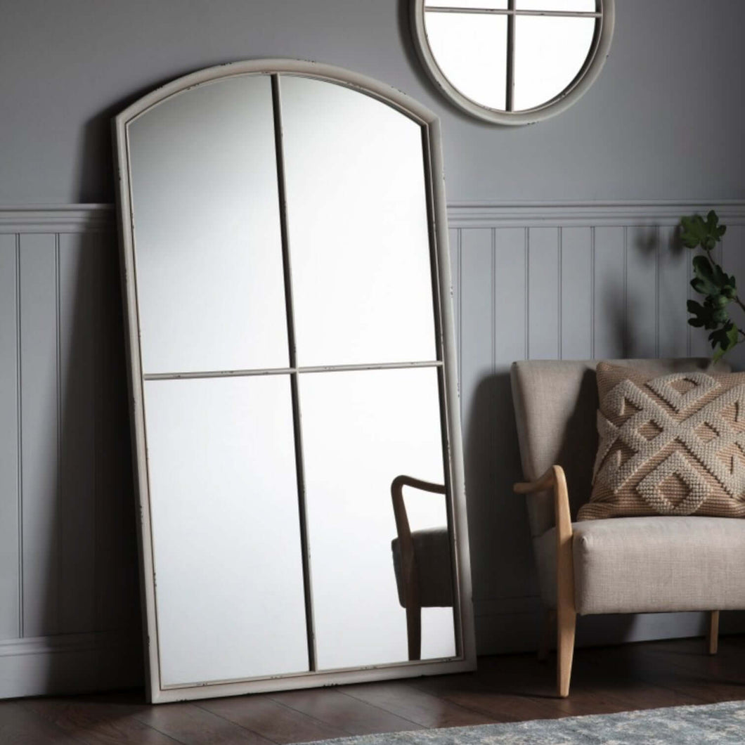 Appleford Arched Leaner Mirror White