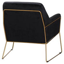 Load image into Gallery viewer, CHAIRS - Aarhus Velvet Armchair Black