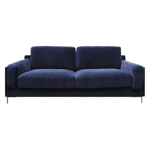 CHAIRS - Aubyn Velvet Sofa Navy
