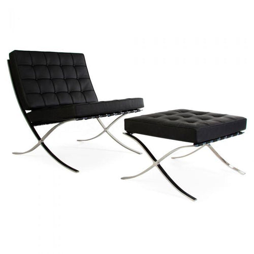 CHAIRS - Barcelona Chair & Stool Black