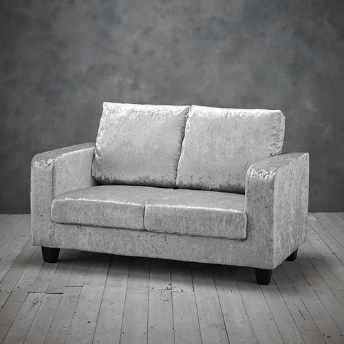 CHAIRS - Crushed Velvet Sofa Grey