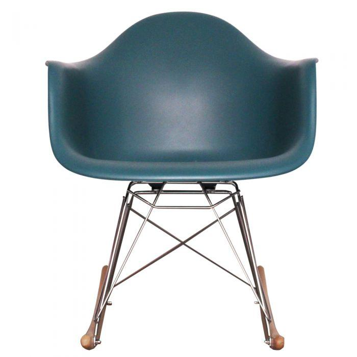 CHAIRS - Eames Style Rocking Chairs Teal