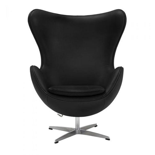 CHAIRS - Egg Chair Leather Black